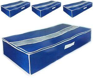 4x unterbettkommode f bettw sche bettzeug bettbez ge unterbett box aufbewahrung ebay. Black Bedroom Furniture Sets. Home Design Ideas