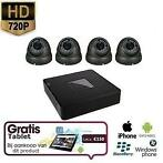4x HD IP Camera Dome Grijs Set + TABLET Gratis Levering