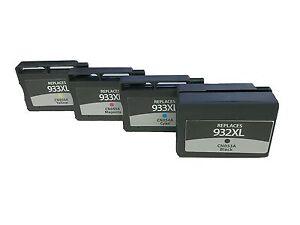 4x-wiederbefuellte-Druckerpatronen-fuer-HP-932XL-933XL-HP-Officejet-6100
