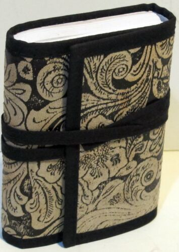 4x5 in Handmade Embossed Leather Tri-fold Pocket Journal Black Paisley Design in Books, Accessories, Blank Diaries & Journals | eBay