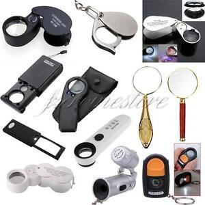 5-10-20-30-45-60x-Fach-Lupen-Lupe-Taschenlupe-Vergroesserungsglas-LED-Leuchtelupe