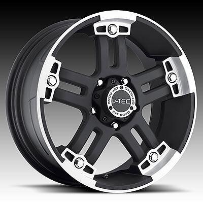 17 Vision Warlord Black Wheels Rims 5x127 Jeep Wrangler JK Set of