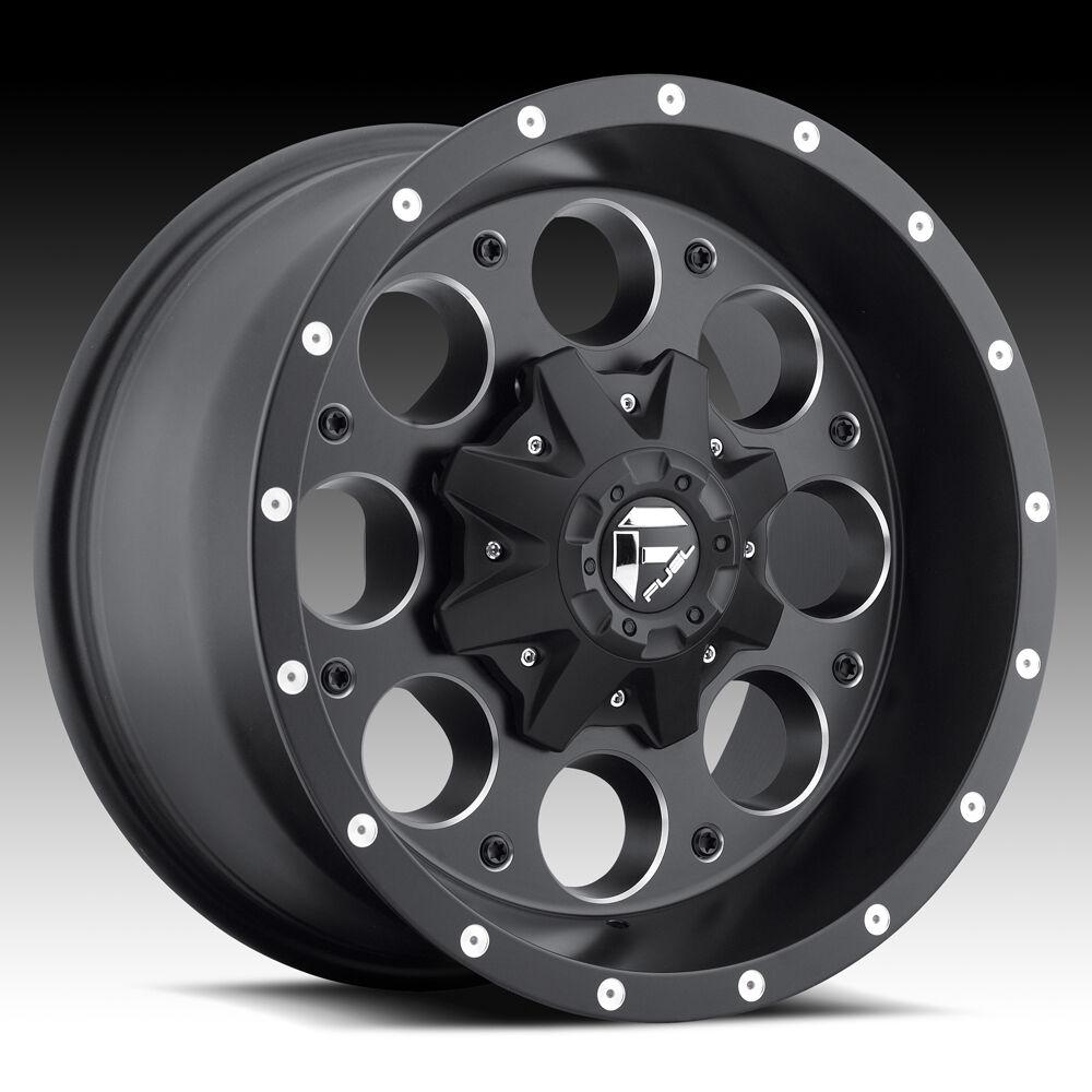 5 17x9 1 Fuel Revolver Black Wheels Rims 5x127 Jeep Wrangler JK Unlimited