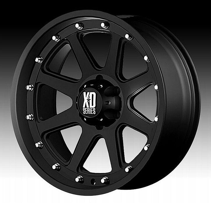 17x9 12 KMC XD Series Addict Matte Black Wheels 5x127 5x5 Jeep