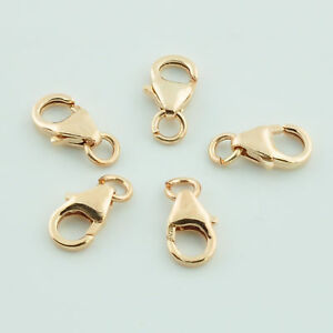 5.5x8.2MM 14K Gold Filled Lobster Clasp with Jump Rings in Jewelry & Watches, Jewelry Design & Repair, Findings | eBay