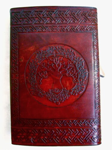 5.5x8 Handmade Leather Journal diary Celtic Tree of Life Book of Shadow wicca in Books, Accessories, Blank Diaries & Journals | eBay