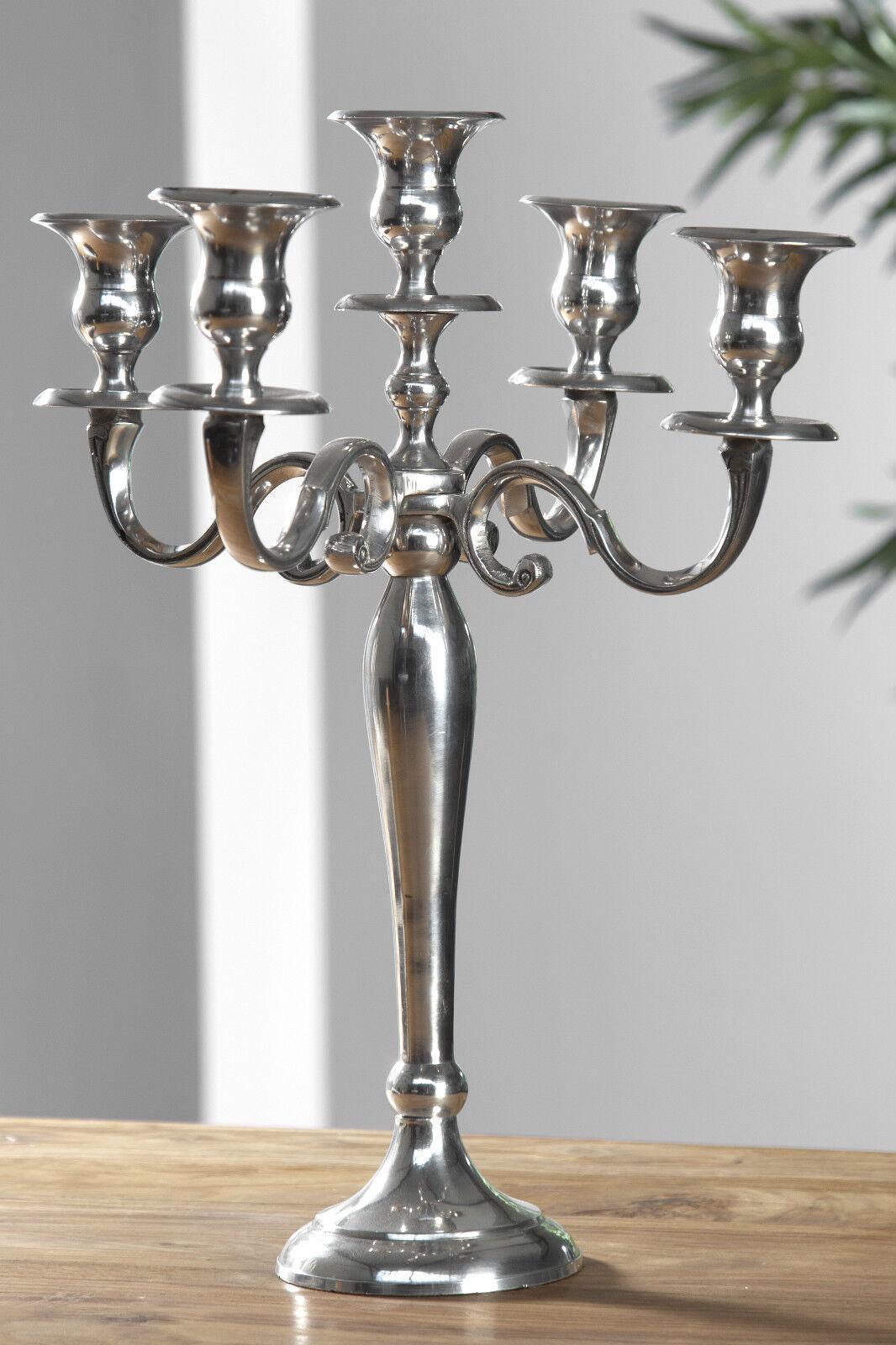 5 Armiger Kerzenleuchter : 5 armiger kerzenleuchter 40cm aus aluminium kerzenst nder barock kandelaber neu ebay ~ Frokenaadalensverden.com Haus und Dekorationen