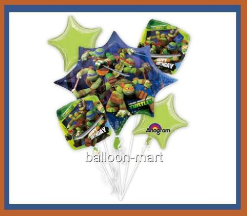 5 BALLOONS TEENAGE MUTANT NINJA TURTLES tmnt PARTY BIRTHDAY decoration supplies in Home & Garden, Holidays, Cards & Party Supply, Party Supplies | eBay