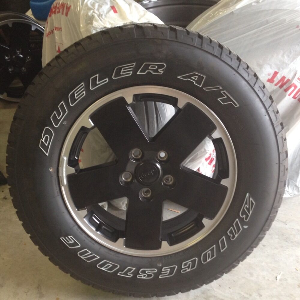 Bridgestone Dueler A T Tires And Rims Fit 2012 Jeep Wrangler Unlimited