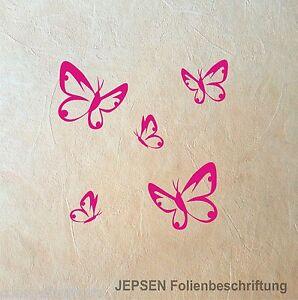5-Butterfly-Schmetterlinge-im-Set-Schmetterling-Set-S-Wandtattoo-Aufkleber