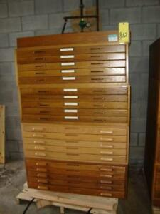 5 Drawer Stack Able Oak Wood Map File Cabinet For 24 Quot X36