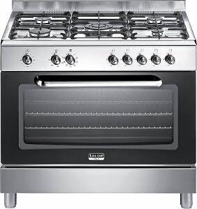 5 flammen gasherd mit elektro hei luft backofen big chef iii ebay. Black Bedroom Furniture Sets. Home Design Ideas