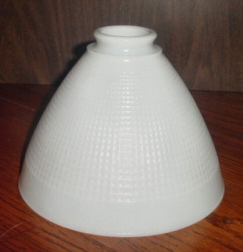 "5""H LAMP SHADE CORNING No 820 090 WHITE CRYSTAL GLASS 2-1/8""FITTER 6""TOP in Collectibles, Lamps, Lighting, Shades 
