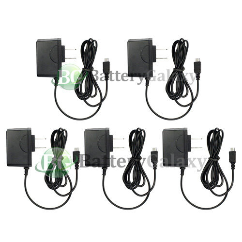 5 NEW Rapid Fast Micro USB Battery Home Wall Travel AC Charger For Cell Phone