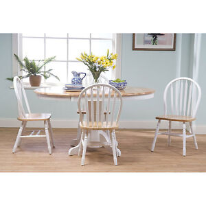 Pc Kitchen Dining Furniture Set Dining Room Table And Chairs Set White
