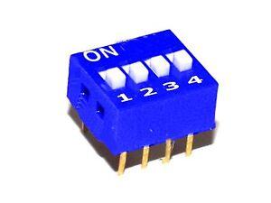 5-Stueck-DIP-Schiebeschalter-stehend-4-polig-RM-2-54