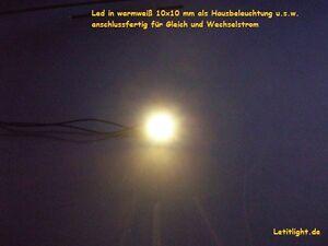 5-Stueck-LED-in-wamweiss-10x10-mm-anschlussfertig-als-Hausbeleuchtung