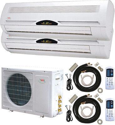 60000 BTU Dual Zone 5 Ton Ductless Mini Split Air conditioner
