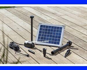 5 w solarpumpe teichpumpe solar tauchpumpe pumpenset. Black Bedroom Furniture Sets. Home Design Ideas