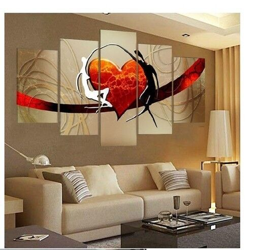 5 piece large canvas no frame modern hand draw art oil for 5 piece mural