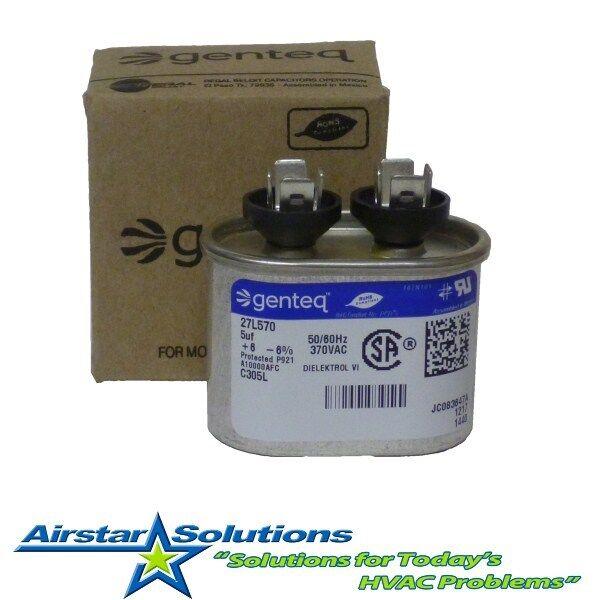 genteq ge 5 uf mfd x 370 vac oval capacitor 27l570 c305l contractor pack ebay