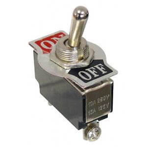 5-x-Kippschalter-250-V-10-A-1-polig-2-Kontakte-1-x-Schliesser-Ein-Aus-5551