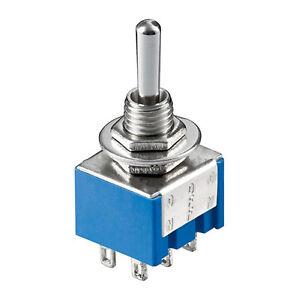 5-x-Miniatur-Kippschalter-2-polig-6-Kontakte-2-Umschalter-Ein-Aus-Ein-4307