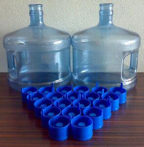5 x wasserspender wasser flasche verschlusskappen flaschen kappen non spill caps ebay. Black Bedroom Furniture Sets. Home Design Ideas