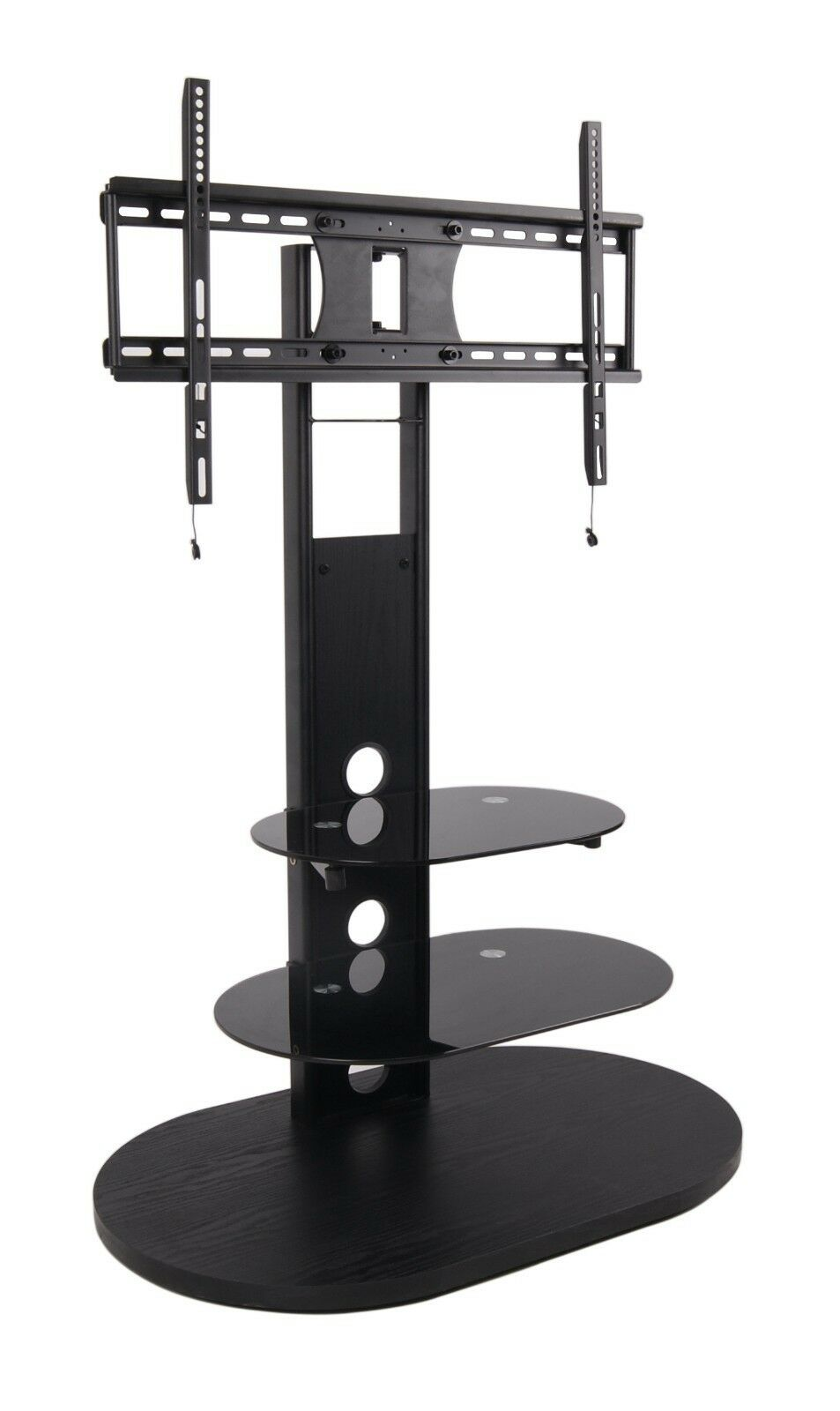 50 52 55 65Inch Flat Panel Screen TV Stand w Mount Black Plasma or LCD