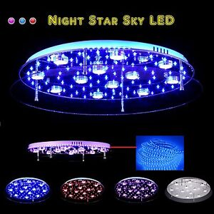 50 60 70cm led dimmbar night sky star farbwechsel deckenlampe deckenleuchte ebay. Black Bedroom Furniture Sets. Home Design Ideas