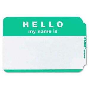 50 HELLO MY NAME IS GREEN NAME TAGS LABELS BADGES STICKERS ...