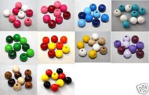 50-Holzperlen-im-Mix-zum-Faedeln-10-mm-Speichelfe-st-Verschiedene-Farbmixe