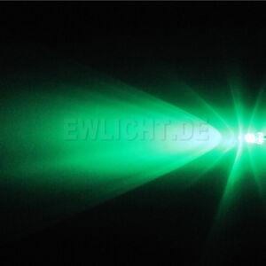 50-LEDs-3mm-Gruen-10000mcd-Gruene-LED-Green-Auto-Beleuchtung-Moebel-PC-Modding-KFZ