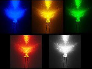 50-Stueck-LED-Leuchtdioden-Wahl-GRUN-BLAU-ROT-WEIss-GELB-3-5mm-50x-Widerstaende