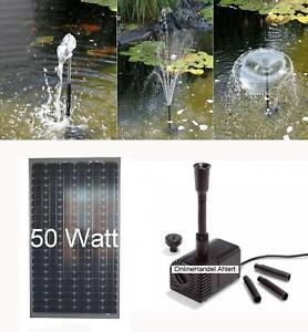 50 w solarpumpe teichpumpe gartenteichpumpe solar bachlaufpumpe pumpenset pumpe ebay. Black Bedroom Furniture Sets. Home Design Ideas