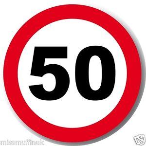 50 e bar muffin tortenaufleger verkehrsschild for Deko geburtstag 50