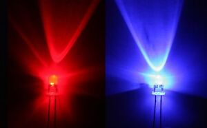 50-x-Blink-LED-rot-blau-1200mcd-flash-LED-red-blue-3mm-Neuware-RoHS