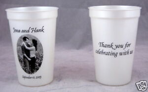 Wedding Favor Cups on 500 16oz Plastic Cups Personalized Wedding Favors   Ebay