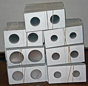 "500 2""x2"" Mixed You Pick Cardboard Mylar Coin Holders in Coins & Paper Money, Publications & Supplies, Holders 