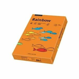 500 blatt rainbow farbiges papier a4 80g orange ebay. Black Bedroom Furniture Sets. Home Design Ideas