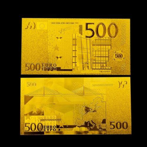 500 euro gold banknote 24 karat 999 gold geldschein for Jugendzimmer bis 500 euro