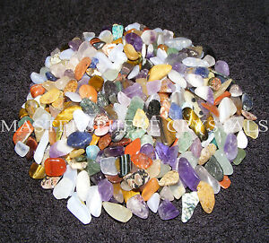 500-x-Mixed-Tumblestones-Crystal-7mm-9mm-Gemstones-Bulk-Wholesale