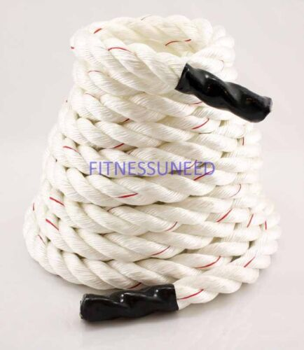 "50Ft 1.5"" Poly Battle Crossfit Training Undulation Fitness Rope + Exercise Video in Sporting Goods, Exercise & Fitness, Gym, Workout & Yoga 