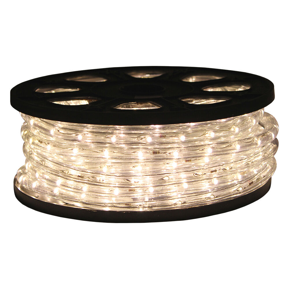 50'ft Warm White 2 Wire LED Rope Light Home Indoor Christmas Decorative Lighting