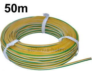 50m litze 3 adrig gr n wei gelb 0 47 m modellbahn kabel f r trix weichen ebay. Black Bedroom Furniture Sets. Home Design Ideas