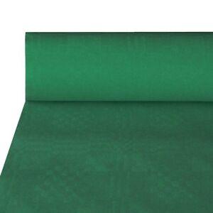 50m papiertischdecke damasttischdecke tischdecke gr n ebay. Black Bedroom Furniture Sets. Home Design Ideas