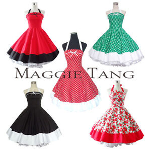 Prom Dress Stores on Rockabilly Polka Dot Full Skirt Dress 4 Costume Party Prom   Ebay