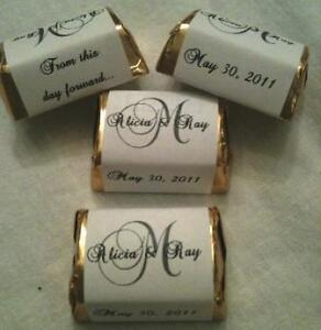 510 Monogram Themed Wedding Candy Wrappers Stickers Labels Personalized Favors