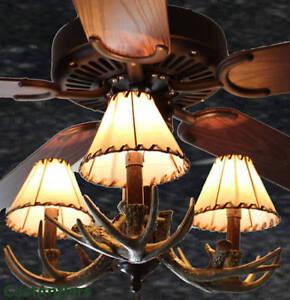 52 Inch Rustic Cabin Lodge Antler Ceiling Fan 3 Lights