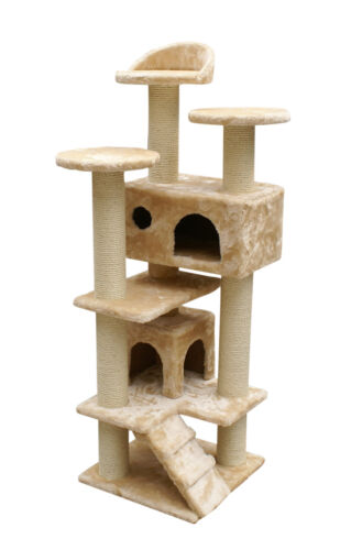 "52"" New Cat Tree Condo Furniture Scratcher Beige in Pet Supplies, Cat Supplies, Furniture & Scratchers 